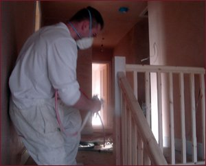 PJM Decorators Banister Spraying