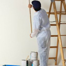 PJM Decorators Painting Wall with Roller