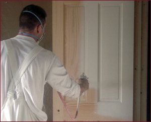 PJM Decorators Spray Painting Door